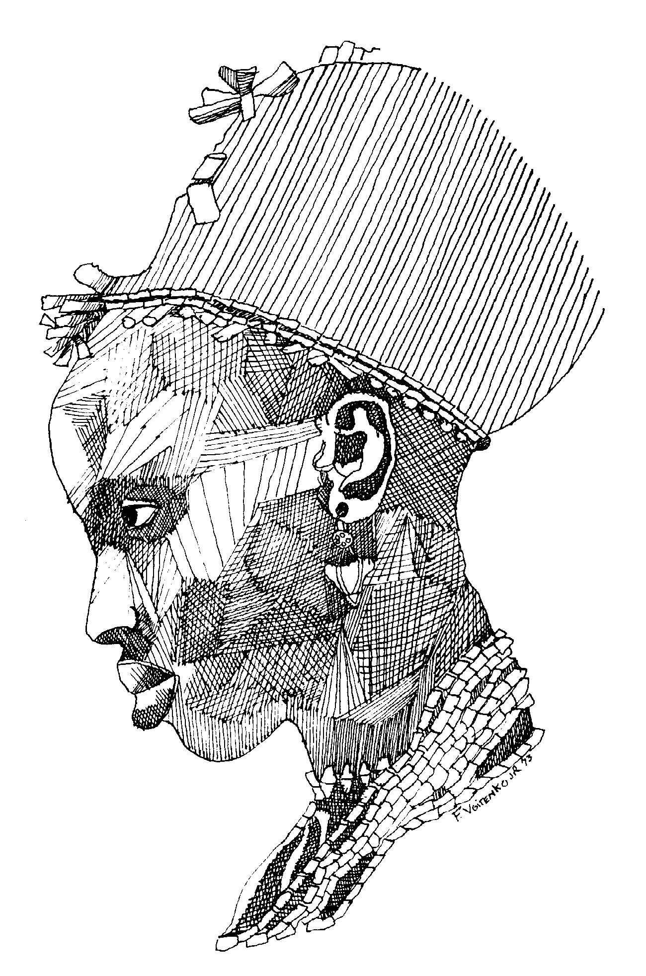 pen and ink art work by fred voitenko